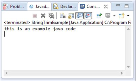 java string template java string trim method exle