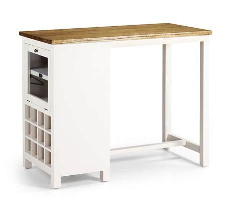 console pour chambre à coucher table de bar en bois blanc laqué avec range bouteilles