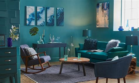Monochromatic Blue Living Room by How To Decorate With A Monochromatic Color Scheme