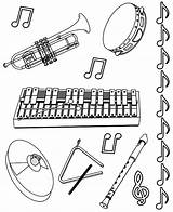Coloring Instruments Musical Drawings Instrument Sheet Pages Printable Notes Colouring Orchestra Worksheets Clipart Draw Cliparts Flute Musicals Template Violin Mandolin sketch template