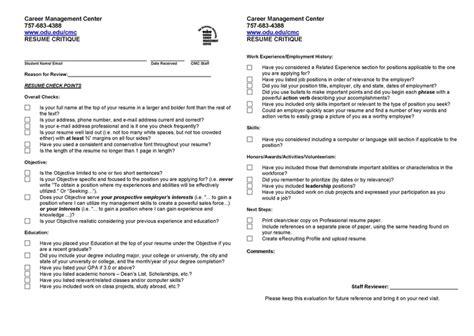 Cv Resume Checklist by Resume Checklist Building Your Resume Resume