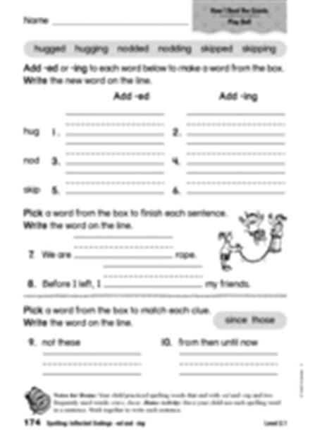 phonics inflected endings ed and ing 1st 2nd grade