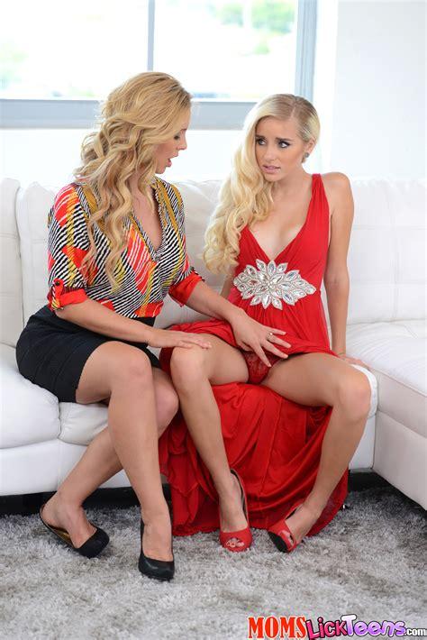 Petite Blonde In Red Dress Is Lesbian Milf Fox
