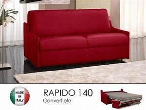 canape lit 3 places luna convertible ouverture rapido With tapis rouge avec canape lit rapido sans accoudoir
