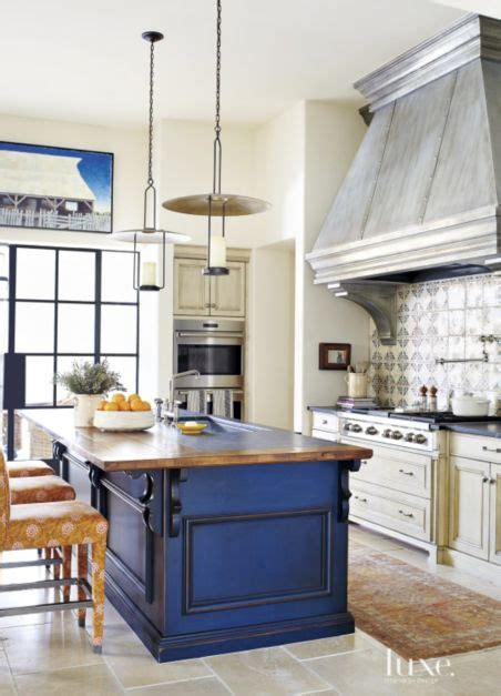mediterranean cream kitchen  blue island luxe
