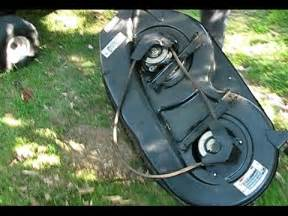 Yard Machine Mower Deck Diagram by How To Replace The Deck Belt On An Mtd Riding Mower Youtube