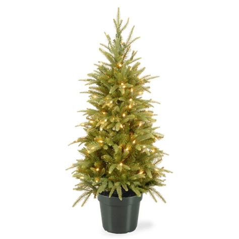 home depot live christmas trees for sale national tree company 4 ft weeping spruce artificial tree with clear lights pews3 373