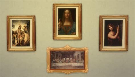 mod the sims leonardo da vinci 4 paintings by ironleo78 sims 4 downloads