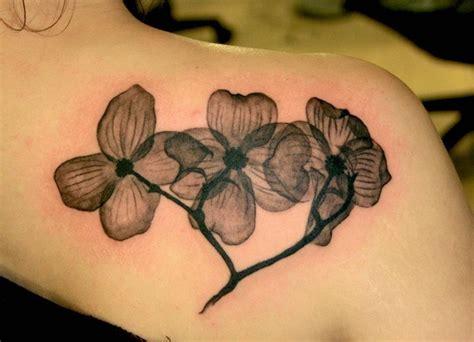 black  white flower tattoo dogwood lotus tattoo