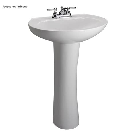Bathroom Pedestal Sinks Lowes by Shop Barclay Hshire 33 In H White Vitreous China