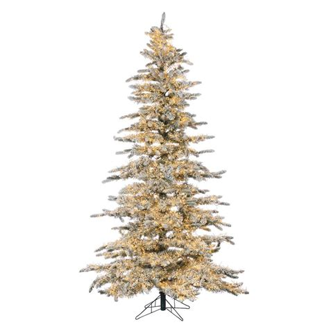 sterling nine foot flocked led trees sterling 7 5 ft pre lit led flocked wyoming snow pine tree with micro lights 5869