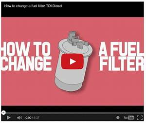 How To Change A Fuel Filter Tdi Diesel