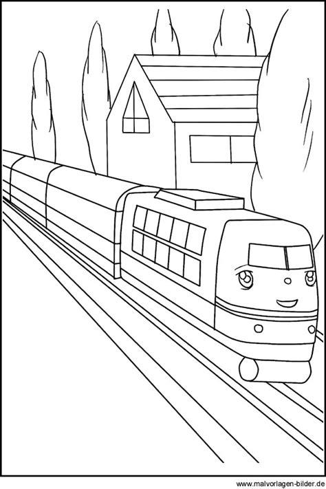 ausmalbild von einem zug schnellzug