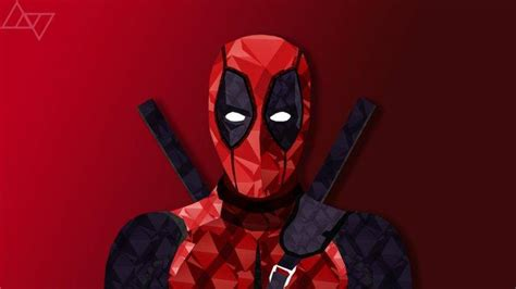 Deadpool, Comics, Digital Art, Low Poly Wallpapers Hd