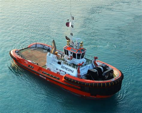 Tug Boat Singapore by Milaha Receives New Asd Tug From Ndsq Gcaptain
