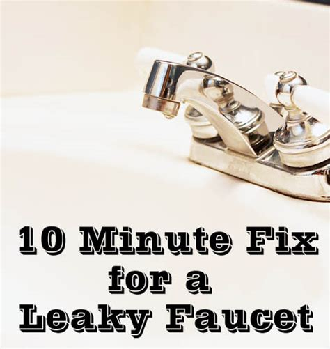fixing a leaky faucet fix a leaky faucet in 10 minutes