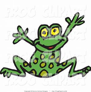Green Frog Designs : clip art of a happy spotted green frog leaping for joy by dennis holmes designs 66 ~ Markanthonyermac.com Haus und Dekorationen