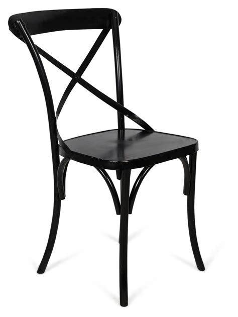 new metal cross back chair ebay