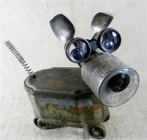 found object - GINGER - Assemblage Sculpture - robot dog ...