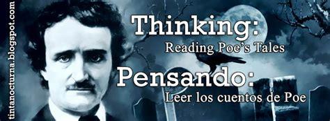 Tinta Nocturna Thinking Reading Poe's Tales Pensando