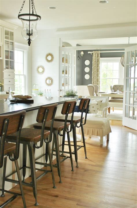 white kitchen stools modern farmhouse kitchen barstools revealed city farmhouse