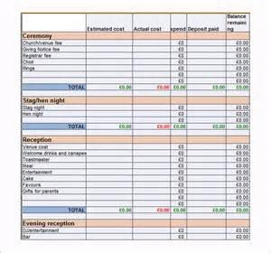 wedding budget worksheet 9 wedding budget template sle templates