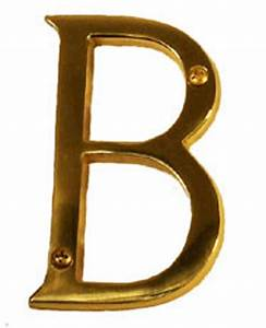 4 inch tall letter b in polished brass With 4 inch brass letters