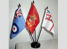 BRITISH ARMED FORCES TABLE FLAG SET