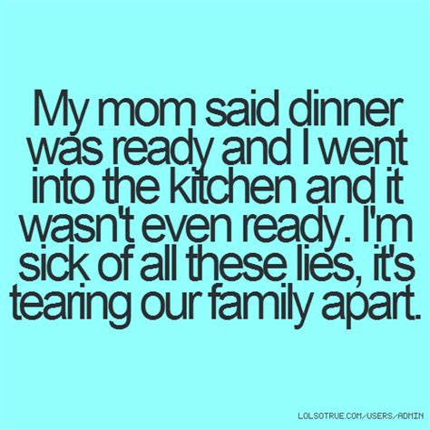 Lying Family Members Quotes