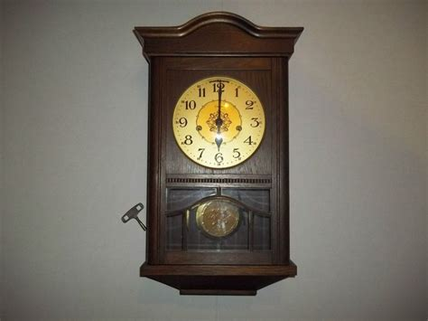 Linden Westminster Key Wound Chime Pendulum Wall Clock