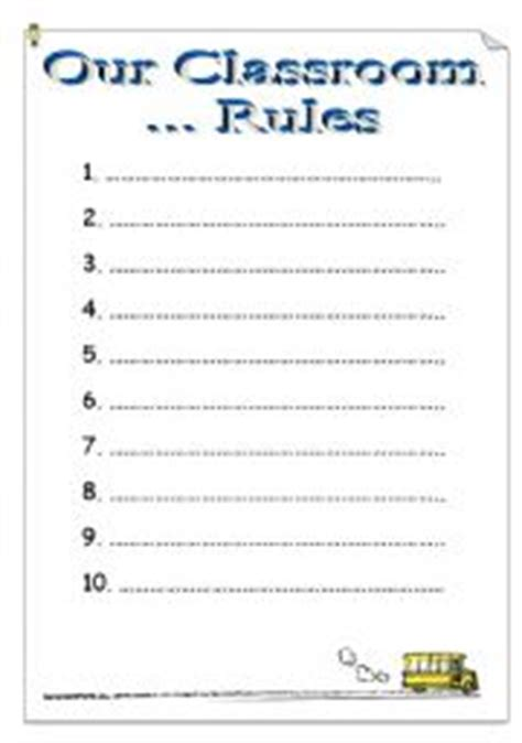 classroom rules template templates