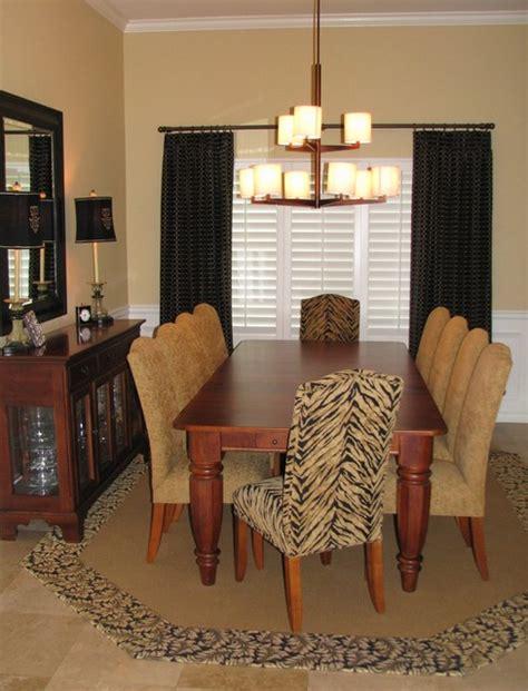 Dining Room With A Little Animal Print Moderndiningroom