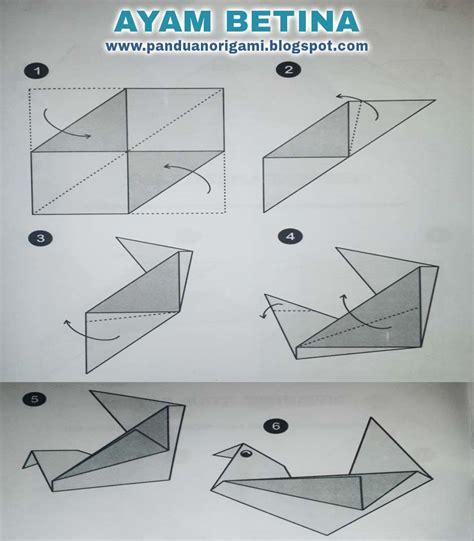 panduan membuat origami ayam betina panduan belajar