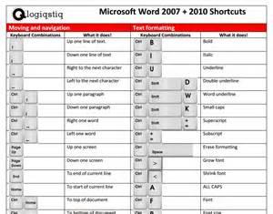 Microsoft Word 2013 Keyboard Shortcuts