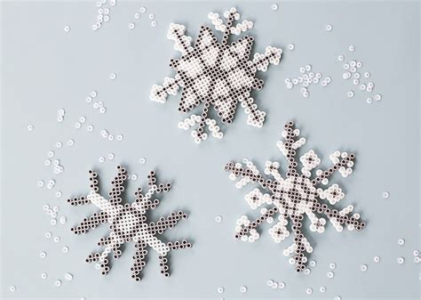 perler beads snowflakes craft  kids consumer crafts