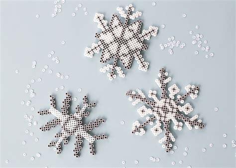 perler beads snowflakes craft  kids consumer crafts