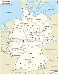 germany natural resource map