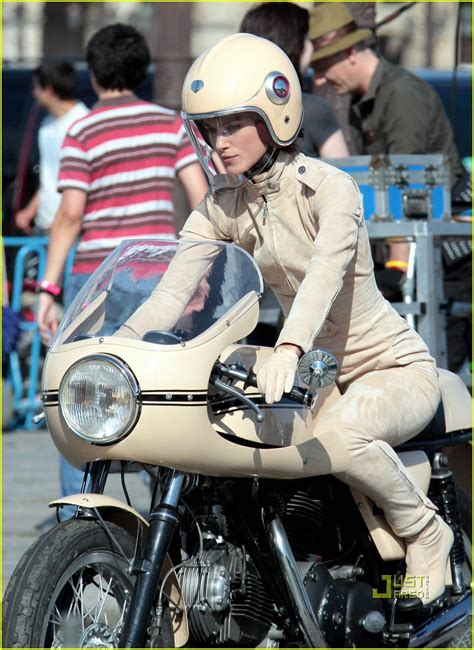Motorcycle Commercial by Keira Knightley Mounts Motorcycle For Chanel Commercial