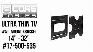 Ultra Thin Tv Wall Mount Bracket - 14 U0026quot  - 32 U0026quot   17-500-535