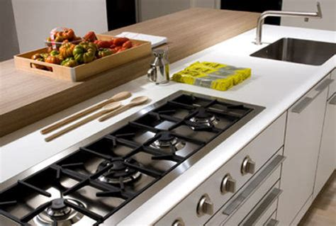 modern kitchen island with hob bulthaup gas hob trends in home appliances