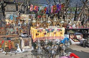 Russian Samovar And Other Antique In Izmailovo Flea Market ...