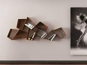 Bibliothèque Moderne Design : biblioth que suspendue murale et design pour vos livres ~ Teatrodelosmanantiales.com Idées de Décoration