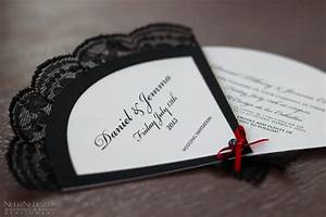 wedding invitation fans real weddings stationery by With spanish fan wedding invitations