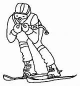 Coloring Skiing Pages Race Ski Doo Printable Print Getcolorings sketch template