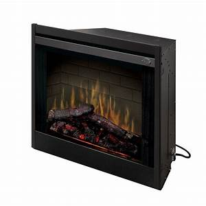 Dimplex 33 in built in electric fireplace insert for Replacement fireplace inserts
