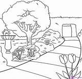 Colorear Paisajes Garden Drawing Dibujos Draw Dibujo Paisaje Line Pintar Parques Lineal Parque Step Jardin Naturaleza Imagen Cucaluna Coloring Sketch sketch template