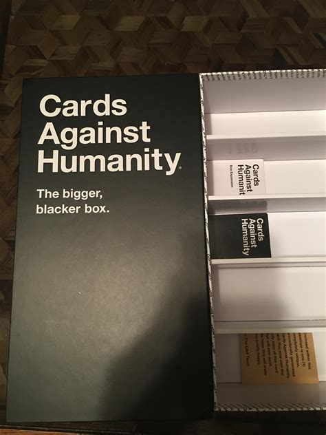 """Cards against humanity bigger blacker box. The Cards against Humanity """"Bigger blacker box."""" : mildlyinfuriating"""