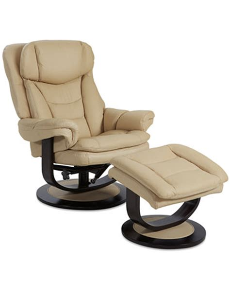 ren leather recliner with ottoman furniture macy s