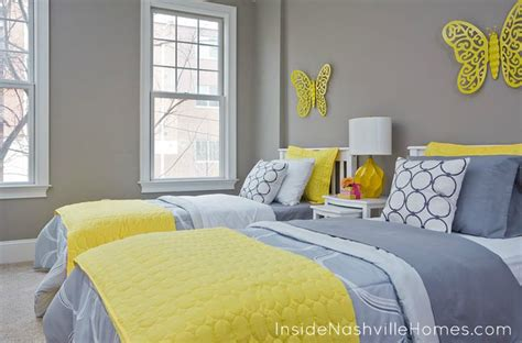 The Yellow Is Fabulous Against These Light Grey Walls And