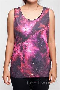 Cosmic Galaxy Shirt Space Star Nebula Universe Tank par ...